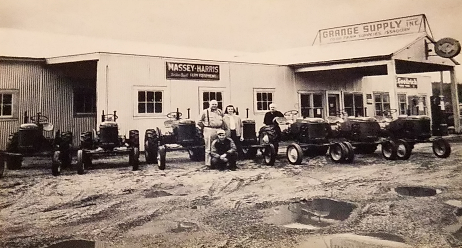 Grange Supply Inc. Historic Photo of Tractors